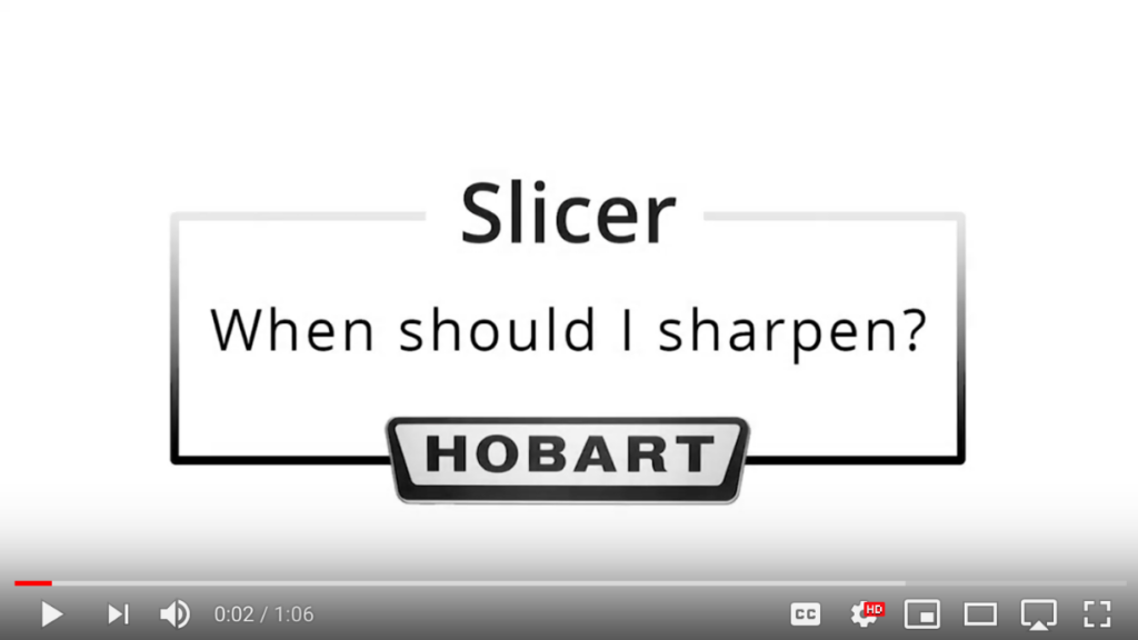 Hobart Sales and Service Grand Rapids, MI - How to sharpen a Hobart slicer