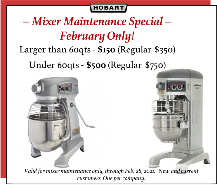 Hobart Sales and Service Grand Rapids, MI Restaurant Supply Store - Mixer Predictive Maintenance Promo